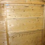 chiosco in legno 3x2 interno finestra