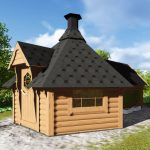 Casetta in legno DIONE porta