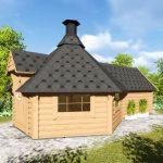 Casetta in legno DIONE lato