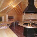 Casetta in legno DIONE area barbecue