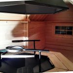 Casetta in legno ERIS barbecue interno
