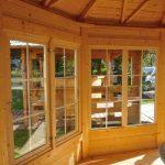 Casetta in legno FEBE vetrate