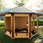 chiosco in legno teti