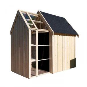 Casetta in legno VIRGO con serra