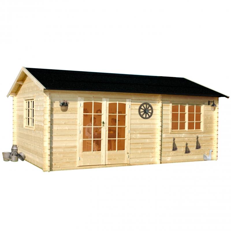 Casette in legno da giardino delux da 21 a 30 mq for Giardino 30 mq progetto