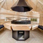 Casetta in legno ARMONIA barbecue interno