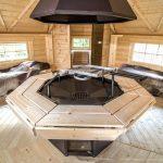 Casetta in legno AURA barbecue interno