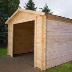 box auto garage in legno ingresso