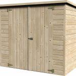 casetta in legno box bike chiusa