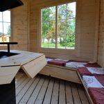 Casetta in legno MINERVA panche interne