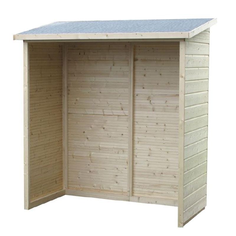 Legnaie in legno da esterno aperte casette in legno - Ripostiglio in legno da giardino ...