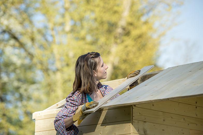 come montare una casetta in legno